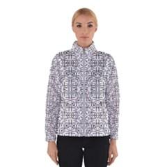 Black And White Ethnic Geometric Pattern Winterwear