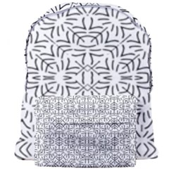 Black And White Ethnic Geometric Pattern Giant Full Print Backpack