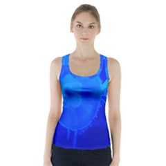 Blue Jellyfish 1 Racer Back Sports Top