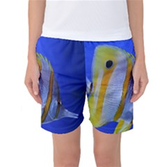 Butterfly Fish 1 Women s Basketball Shorts