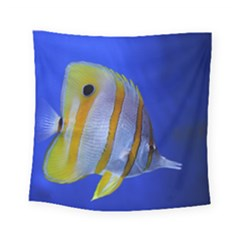 Butterfly Fish 1 Square Tapestry (small)