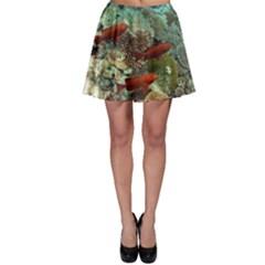 Coral Garden 1 Skater Skirt