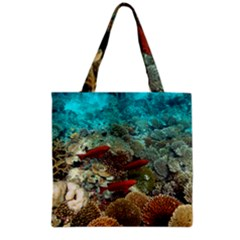 Coral Garden 1 Grocery Tote Bag