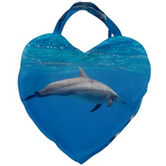 Dolphin 3 Giant Heart Shaped Tote