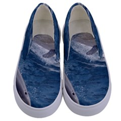 Dolphin 4 Kids  Canvas Slip Ons