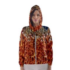 Fire Coral 1 Hooded Wind Breaker (women)