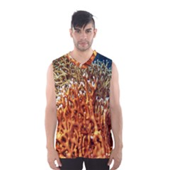 Fire Coral 1 Men s Basketball Tank Top