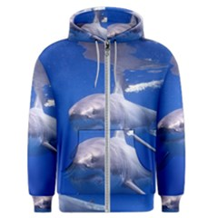 Great White Shark 4 Men s Zipper Hoodie