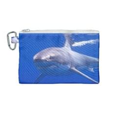 Great White Shark 4 Canvas Cosmetic Bag (medium)