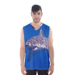Great White Shark 5 Men s Basketball Tank Top