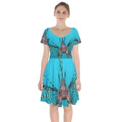 Lionfish 2 Short Sleeve Bardot Dress