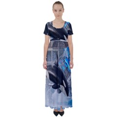 Orca 1 High Waist Short Sleeve Maxi Dress