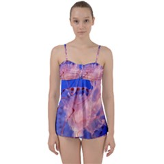 Purple Jellyfish Babydoll Tankini Set