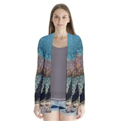 Sea Turtle 3 Drape Collar Cardigan