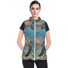 Sea Turtle 3 Women s Puffer Vest