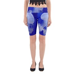 Spotted Jellyfish Yoga Cropped Leggings