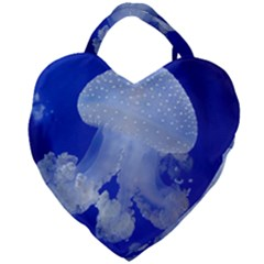 Spotted Jellyfish Giant Heart Shaped Tote