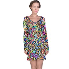Artwork By Patrick Colorful 6 Long Sleeve Nightdress