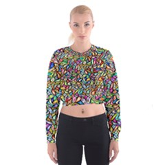 Artwork By Patrick Colorful 6 Cropped Sweatshirt