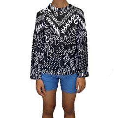 Chicken Hawk Invert Kids  Long Sleeve Swimwear