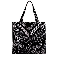 Chicken Hawk Invert Zipper Grocery Tote Bag