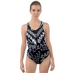 Chicken Hawk Invert Cut Out Back One Piece Swimsuit