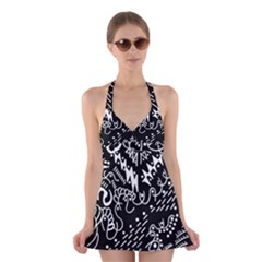 Chicken Hawk Invert Halter Dress Swimsuit