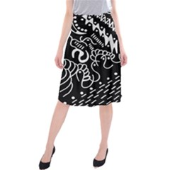 Chicken Hawk Invert Midi Beach Skirt