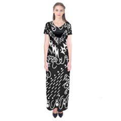 Chicken Hawk Invert Short Sleeve Maxi Dress