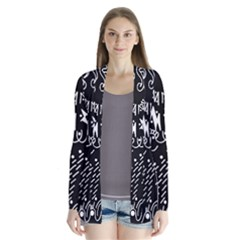 Chicken Hawk Invert Drape Collar Cardigan