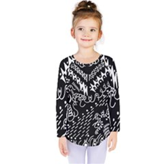Chicken Hawk Invert Kids  Long Sleeve Tee