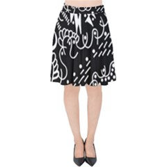 Chicken Hawk Invert Velvet High Waist Skirt