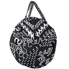 Chicken Hawk Invert Giant Round Zipper Tote