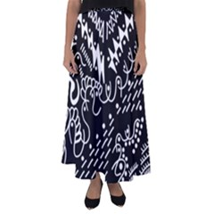 Chicken Hawk Invert Flared Maxi Skirt