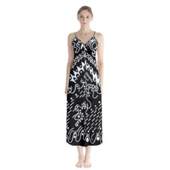 Chicken Hawk Invert Button Up Chiffon Maxi Dress