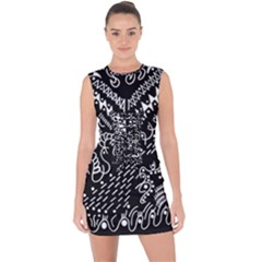 Chicken Hawk Invert Lace Up Front Bodycon Dress
