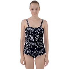 Chicken Hawk Invert Twist Front Tankini Set