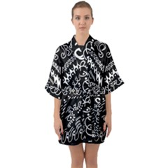 Chicken Hawk Invert Quarter Sleeve Kimono Robe