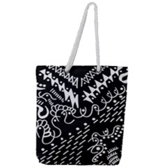 Chicken Hawk Invert Full Print Rope Handle Tote (large)