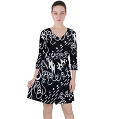 Chicken Hawk Invert Ruffle Dress