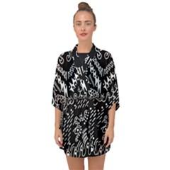 Chicken Hawk Invert Half Sleeve Chiffon Kimono