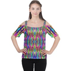 Colorful 7 Cutout Shoulder Tee