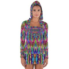 Colorful 7 Long Sleeve Hooded T Shirt