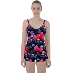 Berries 2 Tie Front Two Piece Tankini