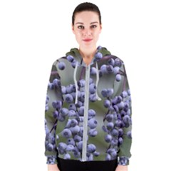 Blueberries 2 Women s Zipper Hoodie