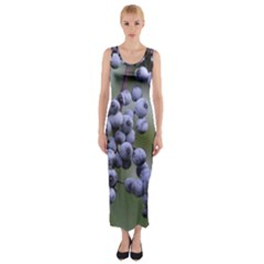 Blueberries 2 Fitted Maxi Dress