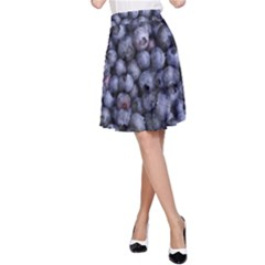 Blueberries 3 A Line Skirt
