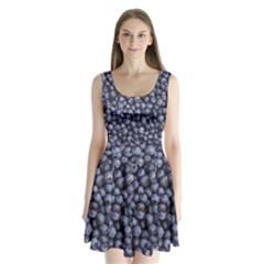 Blueberries 3 Split Back Mini Dress