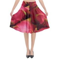 Dragonfruit Flared Midi Skirt