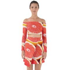 Grapefruit 1 Off Shoulder Top With Skirt Set